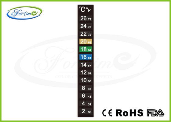 καλύτερος Θερμότητα υψηλής ακρίβειας - ευαίσθητη λουρίδα θερμομέτρων χρώματος μεταβαλλόμενη για τη θερμοκρασία δωματίου μέτρου